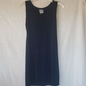 Petite blue sleeveless dress